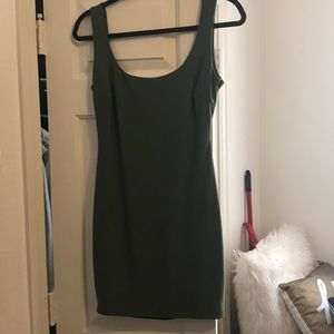 Windsor Backless Mini Satin Green Dress.